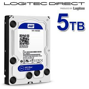 WD 製 Blue モデル 内蔵ハードディスク(HDD) 5TB 3.5インチ ロジテックの保証・無償ダウンロード可能なソフト付 LHD-WD50EZRZ|logitec