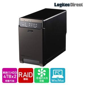 外付けHDD 2BAYケース + WD Red Pro 4TB × 2台 大容量ストレージ LHR-...