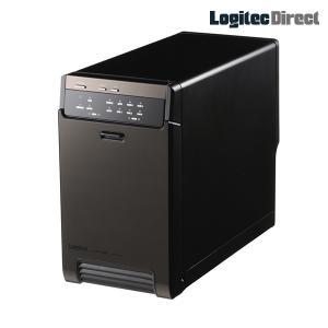 HDDケース 2台搭載可能 3.5インチ SATAハードディスク対応 RAID機能搭載 USB3.1(Gen1) / USB3.0・eSATA ロジテック LHR-2BRHEU3|logitec
