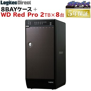 外付けHDD 8BAYケース + WD Red Pro 2TB × 8台 大容量ストレージ 納期別途...