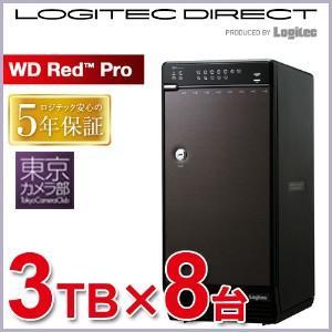 〓カメラマン用大容量ストレージ 8bayケース+Red Pro 3TB×8台 完全限定版 納期別途連絡 LHR-8BRH24EU3RP