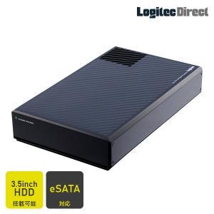 HDDケース 3.5インチSATAハードディスク対応 冷却ファン搭載 USB3.1(Gen1) / USB3.0 eSATA ロジテック LHR-EJEU3F|logitec