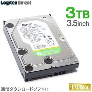 内蔵HDD 3TB WD AV-GP WD30EURX 3.5インチ 内蔵ハードディスク ロジテック...