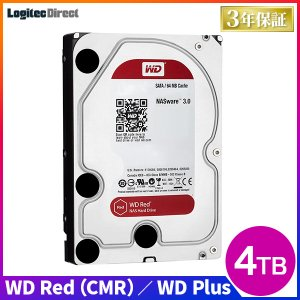 WD 製 Red モデル 内蔵ハードディスク(HDD) 4TB 3.5インチ ロジテックの保証・無償ダウンロード可能なソフト付 LHD-WD40EFRX|logitec