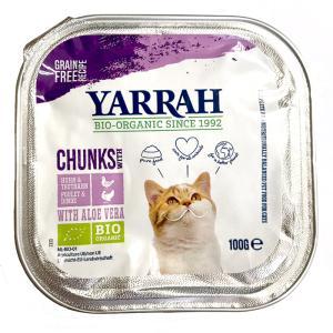 【正規輸入品】YARRAH(ヤラー) キャットフード チキンとターキーのキャットチャンク 猫用 10...