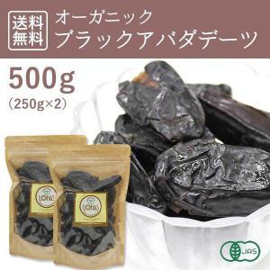 オーガニック・ブラックアバダデーツ(種子あり)500g(250g×2)有機JAS認証 砂糖不使用 無...