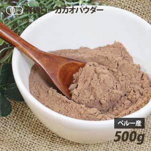 カカオパウダー (生) 有機ローカカオパウダー 500g オーガニック 無糖 ココアパウダー 遺伝子組み換えでない 日本ローフード協会推奨品