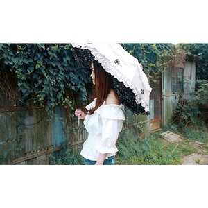お花が可愛いフリル晴れ雨兼用折りたたみ傘 レース 日焼け止め UVカット|loliloli