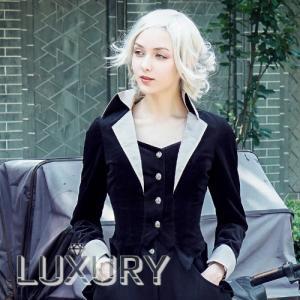 ジャケット/ツーピース/編み上げ/エンビ/クール/ヘッドドレス/スタイルアップ/ボタン/リボン/フリ...