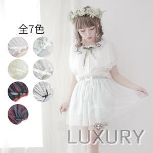 ドロワーズ チュールスカート付き 透け感 インナーパンツ オーバーパンツ レディース ロリータ オーバーパンツ ドット柄|loliloli