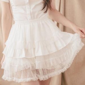Dolly Delly ロリータ チュールスカート付き かぼちゃパンツ ドット柄 ペチコート インナー ゴスロリ クラロリ|loliloli