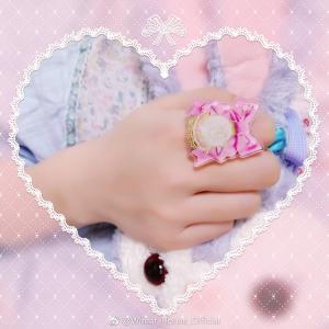 Wheat House リボンロゼッタリング 指輪 甘ロリ ねこ かわいい ロリータ リボン ロリータ小物 アクセサリー loliloli