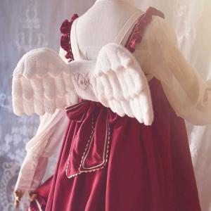 ロリータ エンジェルウィングリュック 天使の羽 小さい ホワイト 甘ロリ コスプレ ふわふわ かわいい 羽 リュック loliloli