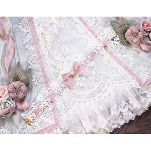 ロリータ 貴婦人のレースチョーカー アクセサリー ピンク レース リボン 姫ロリ ロリータ小物 loliloli