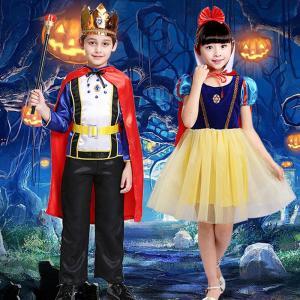 ハロウィン コスプレ コスチューム 仮装 子供 王子 王様 国王 プリンセス お嬢様 キッズ ワンピ...