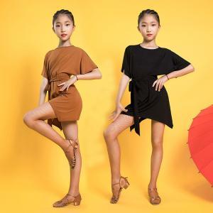 ラテンダンス衣装  キッズ 練習着 大きいサイズ オシャレ 社交ダンス サロペット 舞台衣装 練習着...