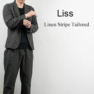 リネン ストライプ テーラードジャケット LINEN STRIPE TAILORED JACKET リス Liss メンズ|london-game