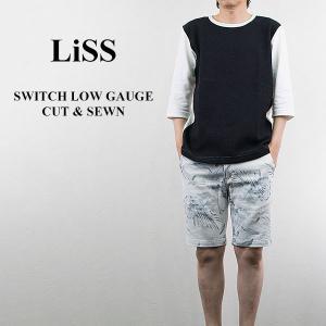 ローゲージカットソー LOW GAUGE CUT & SEWN リス Liss メンズ|london-game