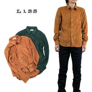 フェイクスウェードシャツ FAKE SUEDE SHIRT リス Liss メンズ london-game