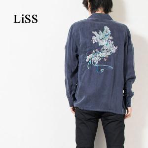 刺繍入りオープンカラーシャツ EMBROIDERY OPEN COLLAR SHIRT リス Liss メンズ|london-game