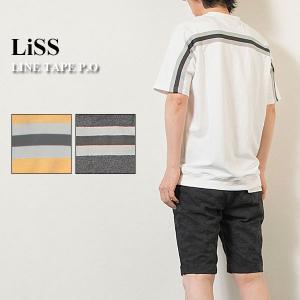 ラインテープ付きカットソー LINE TAPE P.O リス Liss メンズ|london-game
