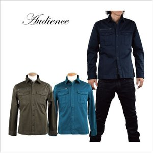 Audience オーディエンス ストレッチ アーミーシャツジャケット STRETCH ARMY SHIRT JACKET|london-game