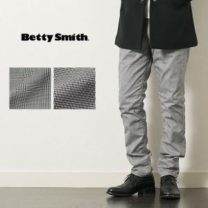 チェック ストレッチ テーパードパンツ BETTY SMITH CHECK STRETCH TAPERED PANTS|london-game