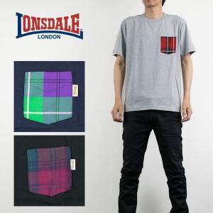 タータンチェック ポケットTシャツ ロンズデール LONSDALE|london-game