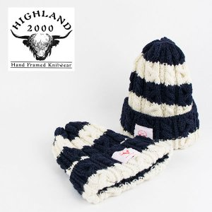 ボーダー ニットキャップ HIGHLAND 2000 BORDER KNIT CAP|london-game