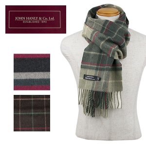 JOHN HANLY カシミア混マフラー CASHMERE SCARF|london-game