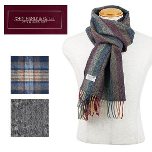 JOHN HANLY ラムウールマフラー LAMBSWOOL SCARF|london-game