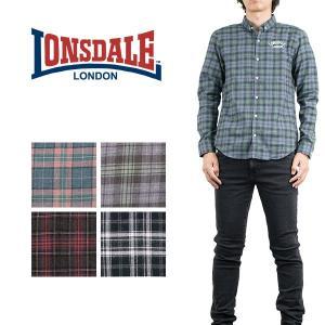 ネルチェックシャツ FLANNEL CHECK SHIRT ロンズデール LONSDALE london-game