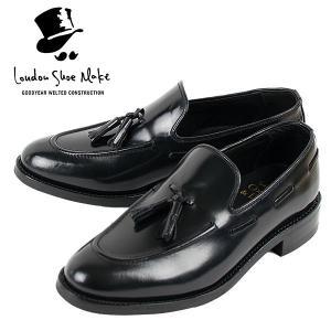 タッセルローファー 革靴 TASSEL LOAFER LEATHER SHOE グッドイヤーウェルト製法 BLACK|london-game
