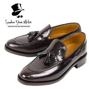 タッセルローファー 革靴 TASSEL LOAFER LEATHER SHOE グッドイヤーウェルト製法 D.BROWN|london-game