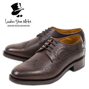 ウィングチップ 革靴 フルブローグ FULL BROGUE LEATHER SHOE グッドイヤーウェルト製法 D.BROWN|london-game