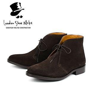 スウェード チャッカブーツ 革靴 SUEDE CHUKKA BOOT LEATHER グッドイヤーウェルト製法 D.BROWN|london-game