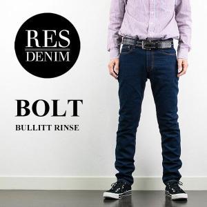 BOLT ストレッチスリムジーンズ BULLIT RINSE レスデニム RES DENIM london-game