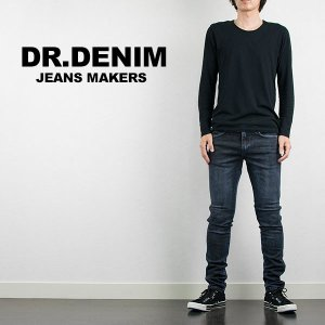 スキニージーンズ DR DENIM ドクターデニム SNAP SKINNY DENIM BLUE CONCRETE|london-game
