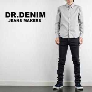 スキニージーンズ DR DENIM ドクターデニム SNAP SKINNY DENIM OLD BLACK|london-game