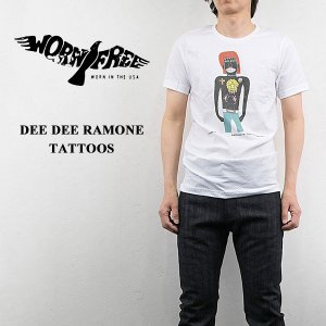 WORN FREE ウォーンフリー ロックTシャツ ROCK Tsh DEE DEE RAMONE TATTOOS|london-game