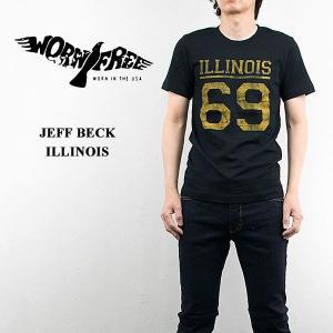 WORN FREE ウォーンフリー ロックTシャツ ROCK Tsh JEFF BECK ILLINOIS 69|london-game