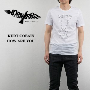 WORN FREE ウォーンフリー ロックTシャツ ROCK Tsh カートコバーン HOW ARE YOU|london-game