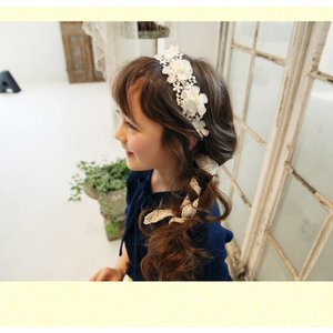 レディースファッション ドレス ブライダル ブライダル小物 ヘッドドレス キッズヘッドドレス 髪飾り 花 カチューシャ 子供 発表会 アクセサリー londonbridge