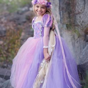 ラプンツェル風 ドレス 子供 キッズ プリンセス お姫様 塔の上のラプンツェル コスプレ 女の子 ワンピース なりきり londonbridge