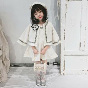 韓国子供服風 女の子スーツ 2点セットジャケット+スカート 卒園式 入学式 フォーマル ドレス スーツ ワンピース 子ども服 女の子 londonbridge