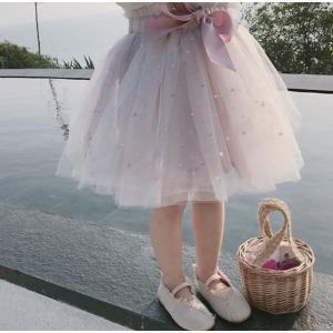子ども服 スカート 女の子 子供ドレス チュール スカート チュチュ プリンセス 星柄 80cm-130cm ピンク グリーン 発表会 結婚式 普段着 入園 入学 送料無料 londonbridge