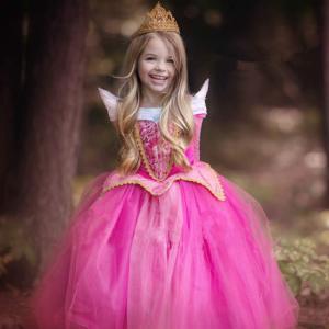 オーロラ姫風ドレス コスプレ 女の子 キッズ プリンセスドレス ピンク ブルー 衣装 子供 子ども 子ども服 フォーマル ドレス スーツ ドレス londonbridge