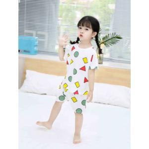 セットアップ クレヨンしんちゃん 風 パジャマ 子供服 キッズサイズ 2点セット 可愛いパジャマ londonbridge
