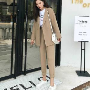 レディースファッション スーツ フォーマル その他スーツ 韓国風ベージュ★フォーマルスーツ|londonbridge