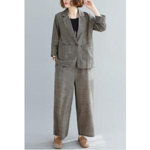 セットアップ レディース スーツ テーラードジャケット ワイドパンツ 2点セット 韓国ファッション|londonbridge